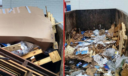 Smash My Trash Before & After Photo
